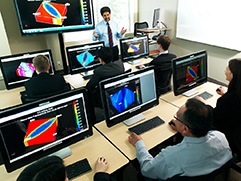 CMG training classroom with instructor and students
